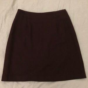Vintage Brown Mini Skirt Size 6 100% Wool